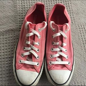 Converse All Star Pink Canvas Tie Up Sneaker Shoes